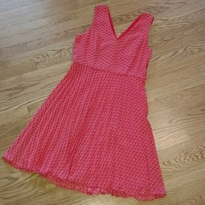 NWT Banana Republic v-neck pleated skirt dress 6